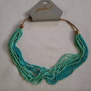 Jules B Terquoise Colored Multi Strand Necklace